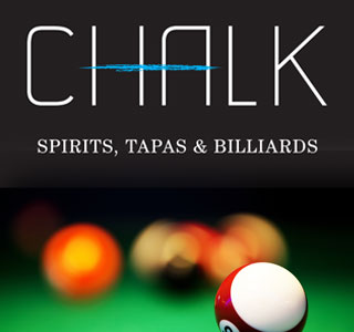 Chalk Lounge, Spirits, Tapas, Billiards