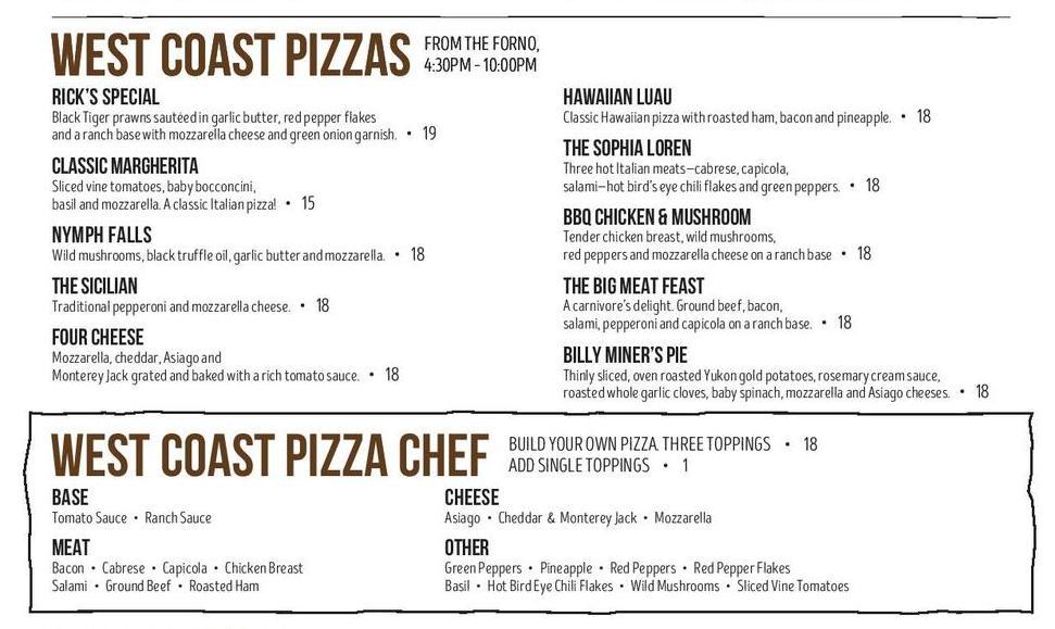 canoe-pizza-menu